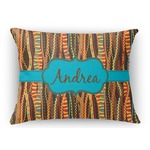 Tribal Ribbons Rectangular Throw Pillow (Personalized)