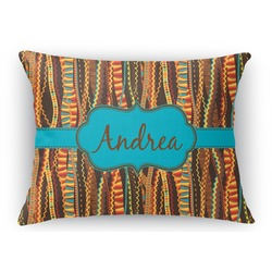 Tribal Ribbons Rectangular Throw Pillow Case (Personalized)