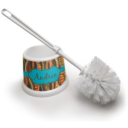 Tribal Ribbons Toilet Brush (Personalized)