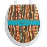 Tribal Ribbons Toilet Seat Decal (Personalized)