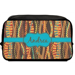 Tribal Ribbons Toiletry Bag / Dopp Kit (Personalized)