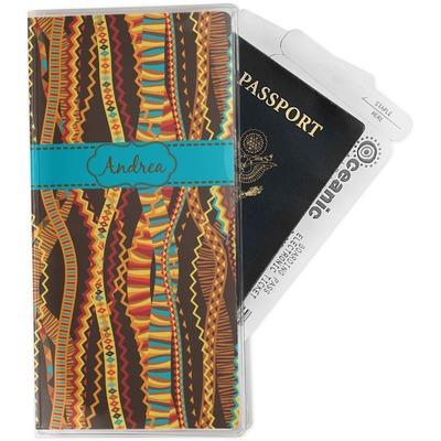Tribal Ribbons Travel Document Holder