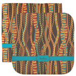 Tribal Ribbons Facecloth / Wash Cloth (Personalized)