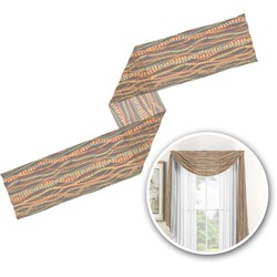 Tribal Ribbons Window Sheer Scarf Valance (Personalized)