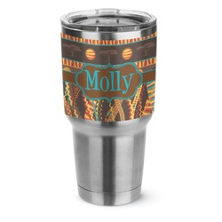 African Lions & Elephants Stainless Steel Tumbler - 30 oz (Personalized)