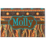 African Lions & Elephants Woven Mat (Personalized)