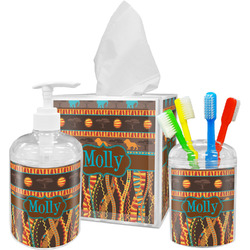 African Lions & Elephants Acrylic Bathroom Accessories Set w/ Name or Text