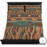 African Lions & Elephants Duvet Cover Set (Personalized)