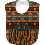 African Lions & Elephants Baby Bib (Personalized)