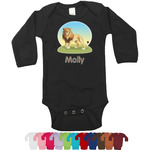 African Lions & Elephants Bodysuit - Long Sleeves (Personalized)