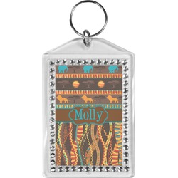 African Lions & Elephants Bling Keychain (Personalized)