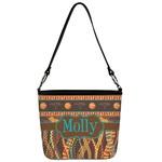 African Lions & Elephants Bucket Bag w/ Genuine Leather Trim (Personalized)
