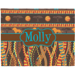 African Lions & Elephants Placemat (Fabric) (Personalized)