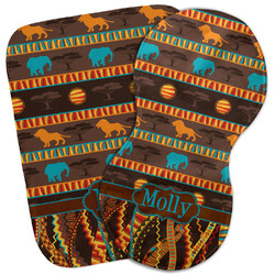 African Lions & Elephants Burp Cloth (Personalized)