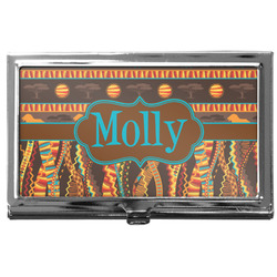 African Lions & Elephants Business Card Case
