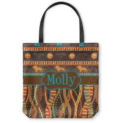 African Lions & Elephants Canvas Tote Bag (Personalized)