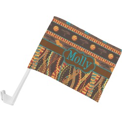 African Lions & Elephants Car Flag (Personalized)