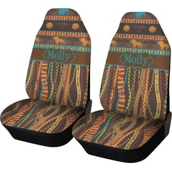 African Lions & Elephants Car Seat Covers (Set of Two) (Personalized)