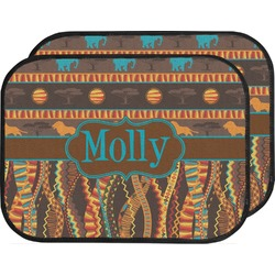 African Lions & Elephants Car Floor Mats (Back Seat) (Personalized)