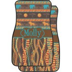 African Lions & Elephants Car Floor Mats (Front Seat) (Personalized)