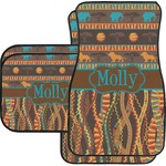 African Lions & Elephants Car Floor Mats (Personalized)