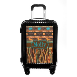 African Lions & Elephants Carry On Hard Shell Suitcase (Personalized)