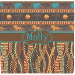 African Lions & Elephants Ceramic Tile Hot Pad (Personalized)