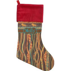African Lions & Elephants Christmas Stocking - Single-Sided (Personalized)