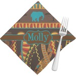 African Lions & Elephants Napkins (Set of 4) (Personalized)