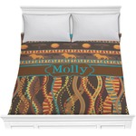 African Lions & Elephants Comforter (Personalized)