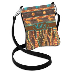 African Lions & Elephants Cross Body Bag - 2 Sizes (Personalized)