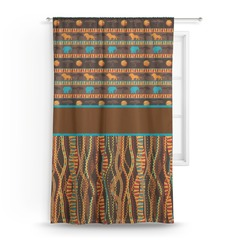African Lions & Elephants Curtain (Personalized)