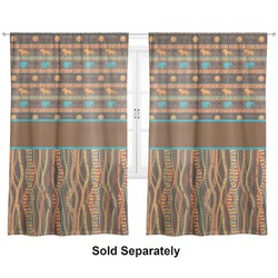 "African Lions & Elephants Curtains - 20""x54"" Panels - Lined (2 Panels Per Set) (Personalized)"