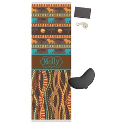 African Lions & Elephants Yoga Mat (Personalized)