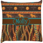African Lions & Elephants Decorative Pillow Case (Personalized)