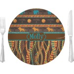 """African Lions & Elephants Glass Lunch / Dinner Plates 10"""" - Single or Set (Personalized)"""