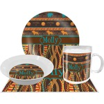 African Lions & Elephants Dinner Set - 4 Pc (Personalized)