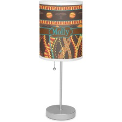 """African Lions & Elephants 7"""" Drum Lamp with Shade Linen (Personalized)"""