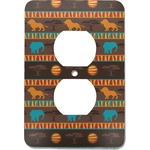 African Lions & Elephants Electric Outlet Plate (Personalized)