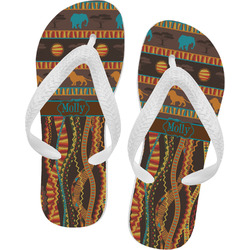 African Lions & Elephants Flip Flops (Personalized)