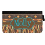 African Lions & Elephants Genuine Leather Ladies Zippered Wallet (Personalized)