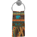 African Lions & Elephants Hand Towel - Full Print (Personalized)