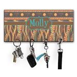 African Lions & Elephants Key Hanger w/ 4 Hooks (Personalized)