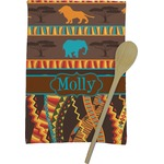 African Lions & Elephants Kitchen Towel - Full Print (Personalized)