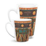 African Lions & Elephants Latte Mug (Personalized)