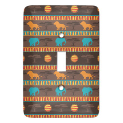 African Lions & Elephants Light Switch Cover (Single Toggle) (Personalized)