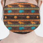 African Lions & Elephants Face Mask Cover (Personalized)