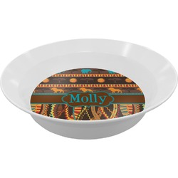 African Lions & Elephants Melamine Bowl (Personalized)