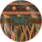 """African Lions & Elephants Melamine Plate - 8"""" (Personalized)"""