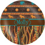 African Lions & Elephants Melamine Plate (Personalized)